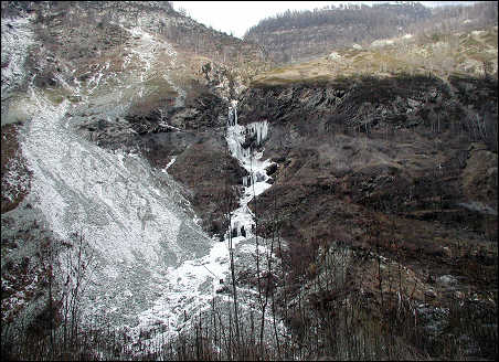 An icefall
