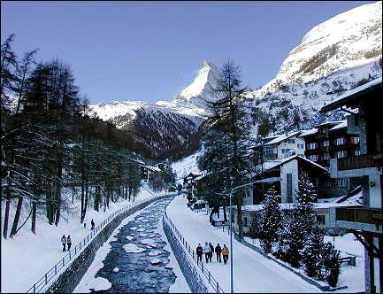Snow Skiing In Zermatt Switzerland